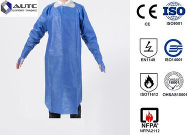 PE Disposable Medical Workwear Protective Clothing Liquid Proof Lightweight